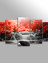 cheap -Landscape Floral/Botanical Modern,Five Panels Canvas Horizontal Print Wall Decor For Home Decoration