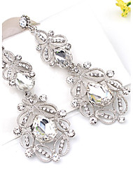 cheap -Drop Earrings Crystal Crystal Alloy Jewelry White Blue Party Daily Casual Costume Jewelry