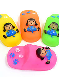cheap -Dog Toy Pet Toys Chew Toy Teeth Cleaning Toy Cartoon Squeak / Squeaking Durable Shoes Silicone For Pets