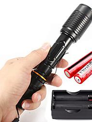 U'King LED Flashlights/Torch Flashlight Kits LED 2000 Lumens 5 Mode Cree XM-L T6 Yes Adjustable Focus for Camping/Hiking/Caving Everyday