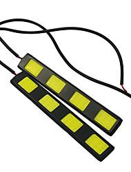 1 Paar Auto-Styling wasserdicht cob Chip LED DRL Tagfahrlicht weiß dc12v Nebel Antriebskopf Lampe