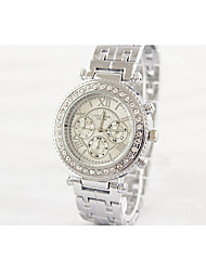 Fashion Watch Simulated Diamond Watch Quartz Alloy Band Casual White Gold Rose Gold