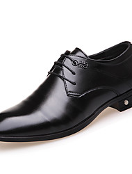 cheap -Men's Shoes Leatherette Winter Spring Summer Fall Comfort Fashion Boots Oxfords Lace-up for Casual Outdoor Office & Career Party & Evening
