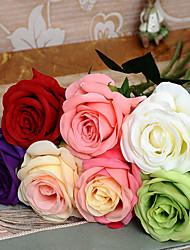 Недорогие -1 шт одиночный высокая qiamond роза моделирования цветок