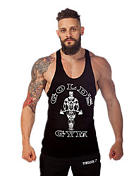 cheap -Men's Gym Tank Top Quick Dry High Breathability (>15,001g) Breathable Lightweight Materials Sweat-wicking Tank Top for Exercise & Fitness