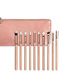 12Pcs Pink Rose Golden  Complete Eye Shadow Makeup Brushes Sets Kits