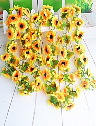 1PCS Seven Heads Sunflower Rural Style Living Room Decoration