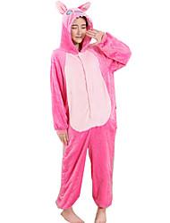 abordables -Pyjamas Kigurumi Blue Monster Animé Combinaison de Pyjamas Costume Flanelle Toison Rose Cosplay Pour Adulte Pyjamas Animale Dessin animé