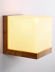 arandelas de parede de madeira / sombra de vidro / 110v ou 220v / país novidade / sem lâmpada