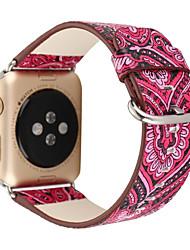abordables -Reloj de la venda para el reloj de la manzana 38m m 42m m hebilla clásica venda del reemplazo del cuero genuino