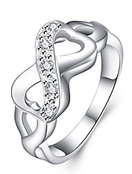 cheap -Women's Ring Jewelry Silver Copper Infinity Unique Design Party Office / Career Daily Costume Jewelry