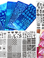 cheap -1pcs New Sweet Colorful Image Design Nail Stainless Steel Stamping Plate DIY Fashion Stamping Stencils Manicure Tool Nail Beauty XY-Z21-30