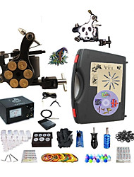 Professional Tattoo Kit 1 steel machine liner & shader 1 alloy machine liner & shader 2 Tattoo Machine Inks Not Included