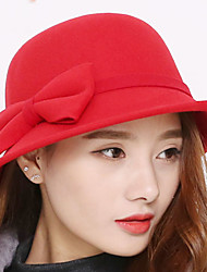 cheap -Women's Vintage Bucket Hat - Solid Colored