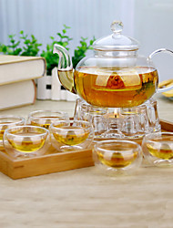 cheap -8 piece suit Atmospheric Family Entertainment Glass Tea set Teapot