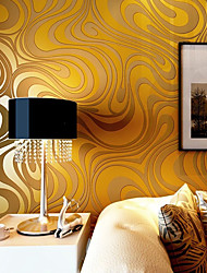 cheap -Contemporary Wallpaper Art Deco 3D Sprinkling Gold Abstraction Wallpaper Wall Covering Non-woven Fabric Wall Art