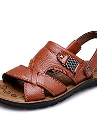 cheap -Men's Shoes Cowhide Spring Summer Fall Comfort Sandals Upstream Shoes for Casual Office & Career Outdoor Light Brown