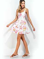 cheap -Women's Going out Holiday Cute Sheath Dress - Floral High Rise Strap