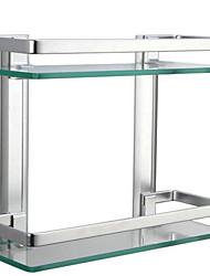 Prateleira de Banheiro Alumínio Vidro /Contemporâneo