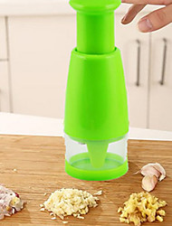 cheap -1Pcs  Kitchen Accessories Hand Pressing Shredder Kitchen Multipurpose Ginger Onion Chopper Stainless Steel  Chop Cooking Tools  Random Color