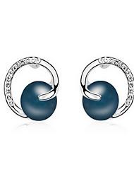 economico -Da donna Orecchini a bottone Perle Natura Di tendenza Perla Perle finte Perla grigia Perla d'oro Perla Nera Lega Gioielli Gioielli Per