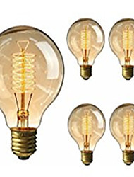 cheap -5pcs G95 Antique Retro Vintage Edison Bulbs E27 Incandescent Light Bulbs 40W Decorative Filament Bulb Edison Light 220-240V