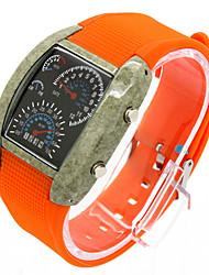 Homme Montre de Sport Montre Habillée Montre Tendance Montre Bracelet Quartz Calendrier Anti-Choc Grand Cadran Silikon Bande Pour tous