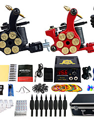 Kit de tatouage professionnel 2 Machine à tatouage x alliage pour la doublure et l'ombrage 2 Machine à tatouer Encres non incluses