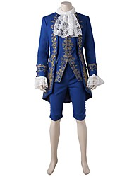 cheap -Prince Fairytale Cosplay Costume Halloween Props Party Costume Masquerade Movie Cosplay Blue Coat Top Pants More Accessories Christmas