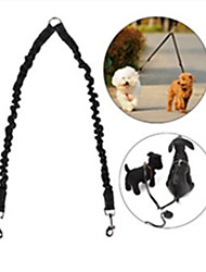 abordables -Perro Correas Correa manos libres Ajustable / Retractable Reflexivo Seguridad Carrera Un Color Caucho Nailon Negro Rojo Azul