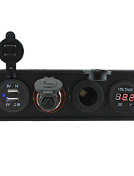 economico -Presa socketpower 12v / 24v 3.1a usb portcigarette più leggero e voltmetro con pannello porta alloggiamento per barca auto camion rv