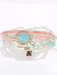 cheap -The European And American Fashion New Bracelet Retro Eyes Tower Multilayer Beaded Bracelet