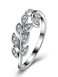 Ringe Bryllup Fest Speciel Lejlighed Daglig Afslappet Smykker Sølv Zirkonium Ring 1 Stk.,8 Sølv