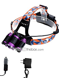 cheap -U'King Headlamps Headlight LED lm 3 Mode Cree XM-L T6 with Chargers Zoomable Adjustable Focus Easy Carrying Camping/Hiking/Caving