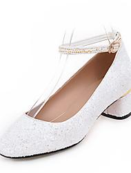 economico -talloni del partito cinturino alla caviglia scintillio di nozze primavera estate&abito da sera tacco grosso paillettes fibbia