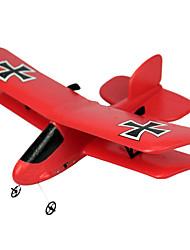 Недорогие -Планер RC 2.4G Самолет на радиоуправлении Красный Требуется некоторая сборкаПульт Yправления Летательный Aппарат USB Kабель Руководство