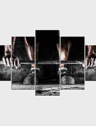 Stretched Canvas Print Abstract Leisure Modern Classic,Five Panels Canvas Any Shape Print Wall Decor For Home Decoration