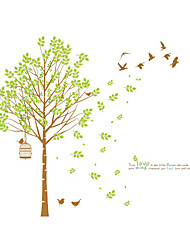 cheap -Wall Stickers Wall Decals Style Fresh Tree PVC Wall Stickers