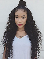 Hot Style  Human Virgin Hair Lace Wig Lace Front Natural Kinky Curly Wave  Lace  Wig-glueless with Baby Hair