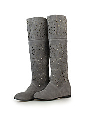 Women's Boots Spring Fall Comfort Fleece Casual Athletic Party & Evening Flat Heel Flower Black Gray Red Walking