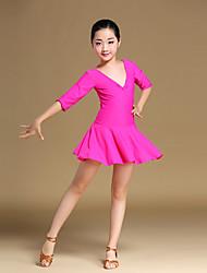 Danse classique Robes Enfant Entraînement Chinlon Nœud papillon Au drapée La moitié des manches Robe
