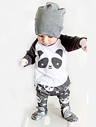 cheap -Baby Fashionable And Lovely Cotton Cartoon Characters Round Collar Shirt  Pants Two-Piece Outfit
