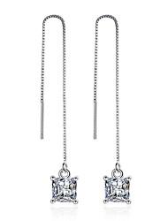 925 Sterling Silver Necklace AAA Cubic Zirconia Drop Earrings Jewelry