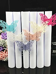cheap -40pcs/lots Wedding Napkin Holder Laser Cut Butterfly Napkin Ring Party Favor Paper Napkin Ring For Wedding Decoration Party Supplies