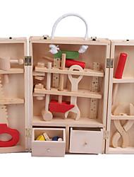 Недорогие -Ролевые игры Игрушечные инструменты Ящики для инструментов Безопасность моделирование Дерево Детские Мальчики Игрушки Подарок 1 pcs