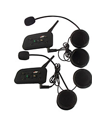cheap -Vnetphone V6 2Pcs 1200M Waterproof Motorcycle Helmet Interphone Full Duplex Bluetooth Car Kit Intercom Headset