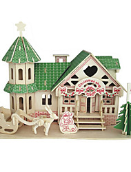Jigsaw Puzzles Wooden Puzzles Building Blocks DIY Toys Believe In Santa 1 Wood Ivory Model & Building Toy
