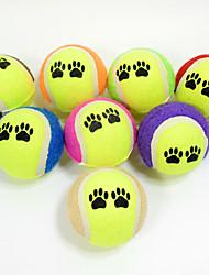 Hundelegetøj Kæledyrslegetøj Bold Bide Legetøj Holdbar Fodprint Halloween Tennisbold For kæledyr