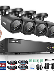 ANNKE® 8CH 720P AHD DVR 4 PCS 1200TVL Home Security CCTV Cameras HD Outdoor IR Night Surveillance System Kit