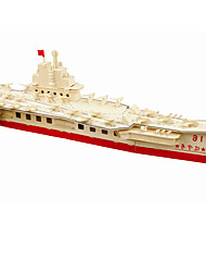 cheap -Building Blocks 3D Puzzles Jigsaw Puzzle Wooden Puzzles Educational Toy Toys Aircraft Carrier Professional Level DIY Kids' 1 Pieces